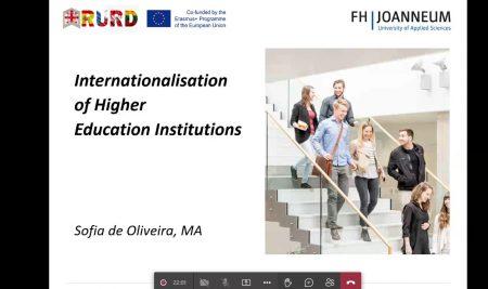 მესამე ონლაინ ტრენინგი Erasmus+ ინსტიტუციური განვითარების პროექტის ფარგლებში