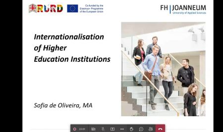 Online Training in the Frame of Erasmus+ Project Role of Universities in the Regional Development – RURD